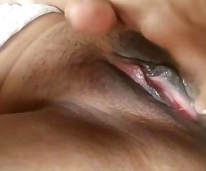 Indian girlfriend plays with..